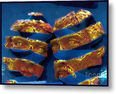 Blue In The Face Metal Print by Jack Gannon