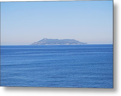 Metal Print featuring the photograph Blue Ionian Sea by George Katechis