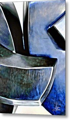 Blue Iron Metal Print by Joan Reese