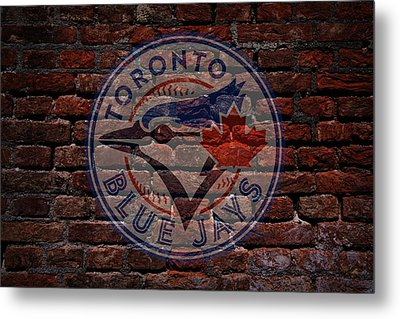 Blue Jays Baseball Graffiti On Brick  Metal Print by Movie Poster Prints