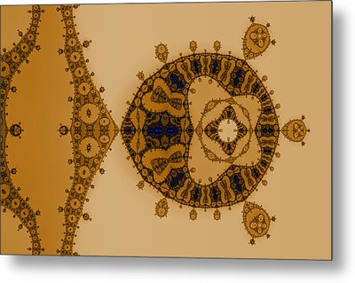 Blue Lace Metal Print by Mark Eggleston