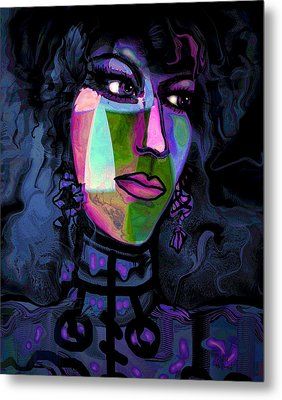 Blue Lady Metal Print by Natalie Holland
