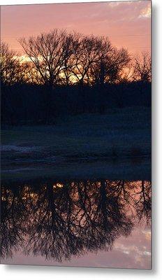 Blue Lake Sunset Xi Metal Print