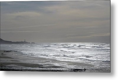 Metal Print featuring the photograph Blue Lighthouse View by Susan Garren