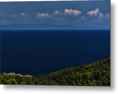Blue Liguria Metal Print