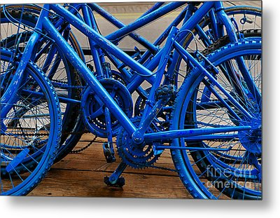 Blue Limousines Metal Print by Steven Milner