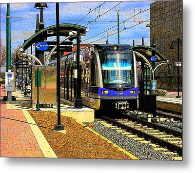 Metal Print featuring the photograph Blue Line by Rodney Lee Williams