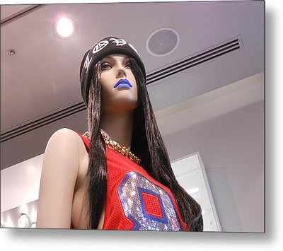 Blue Lips Metal Print by Kay Gilley