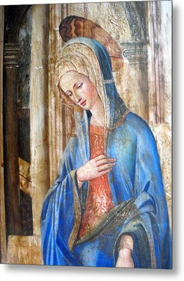 Blue Madonna Metal Print by Anonymous