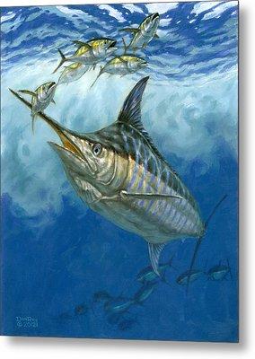 Blue Marlin And Yellowfin Tuna Metal Print by Don  Ray