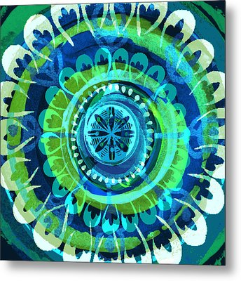 Blue Medallion 1 Metal Print
