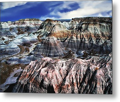 Blue Mesa - Painted Desert Metal Print by Bob and Nadine Johnston