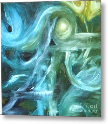 Blue Metal Print by Michelle Dommer
