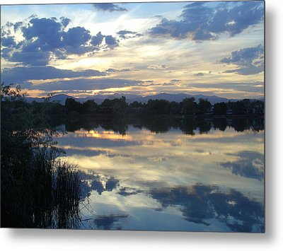 Blue Mirror Metal Print