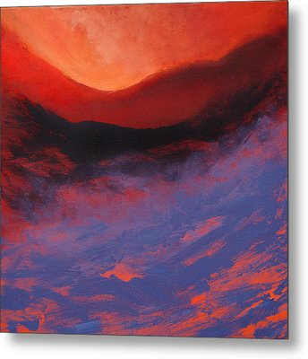 Blue Mist Rising Metal Print by Neil McBride