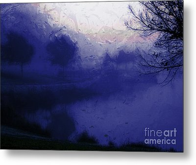 Metal Print featuring the photograph Blue Misty Reflection by Julie Lueders