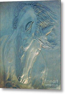 Metal Print featuring the digital art Blue Monday by Suzette Kallen