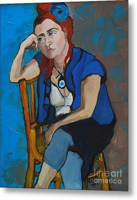 Blue Mood Metal Print by Mona Edulesco