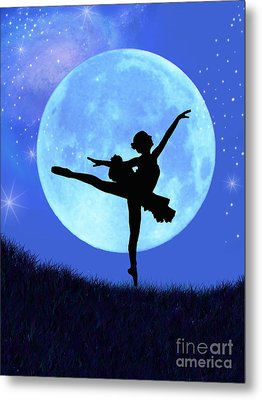 Blue Moon Ballerina Metal Print