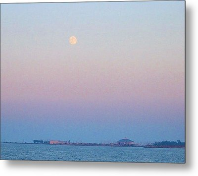 Blue Moon Eve Metal Print