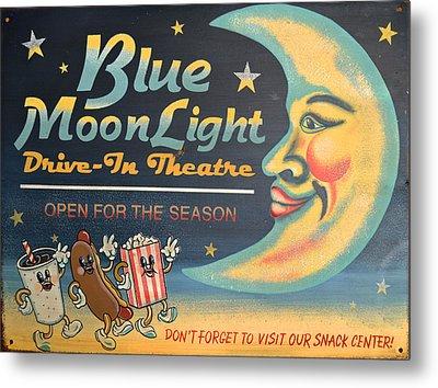 Blue Moon Light Metal Print by Sherry Dooley