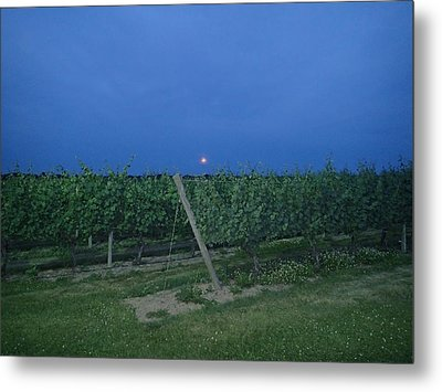Metal Print featuring the photograph Blue Moon by Robert Nickologianis