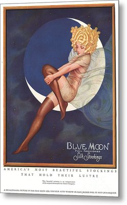 Blue Moon Silk Stockings 1920s Usa Metal Print by The Advertising Archives