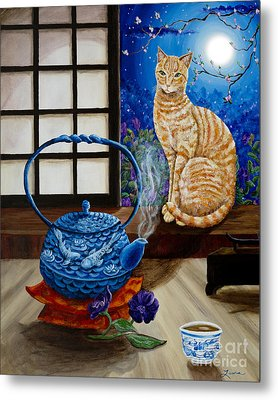 Blue Moon Tea Metal Print