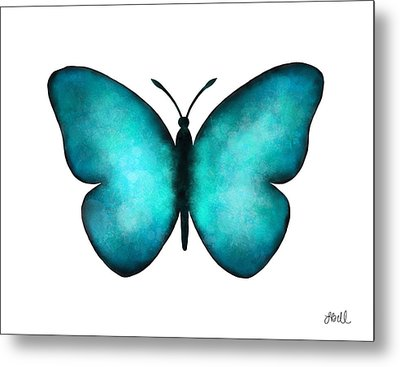 Blue Morpho Butterfly Metal Print by Laura Bell