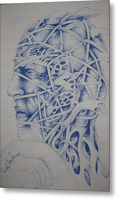 Blue Metal Print by Moshfegh Rakhsha