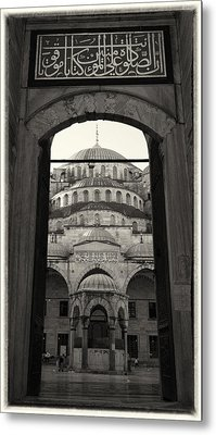 Blue Mosque Entrance Metal Print by Stephen Stookey