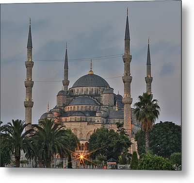 Blue Mosque Morning Light Metal Print by Stephen Stookey
