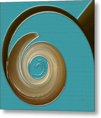 Blue Motion Metal Print by Ben and Raisa Gertsberg