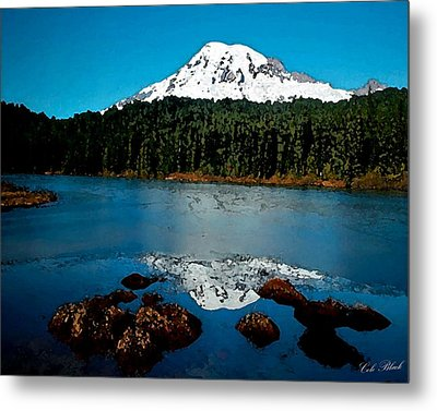 Blue Mountain Metal Print by Cole Black