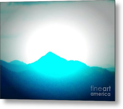 Blue Mountain Metal Print by Lorraine Heath