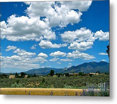 Blue Mountain Skies Metal Print