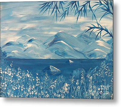 Blue Mountains Metal Print by Judy Via-Wolff