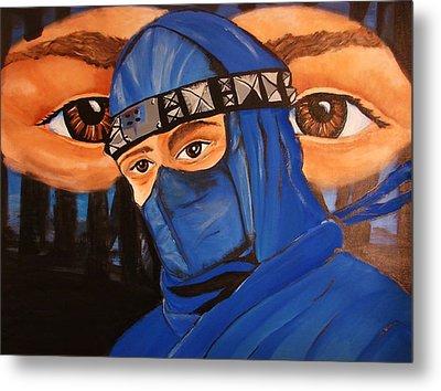 Blue Ninja Metal Print