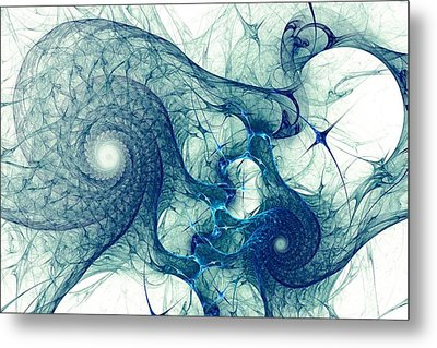 Blue Octopus Metal Print by Anastasiya Malakhova