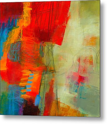 Blue Orange 1 Metal Print by Jane Davies