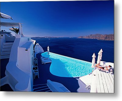 Blue Paradise Metal Print by Aiolos Greek Collections