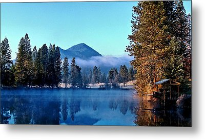 Metal Print featuring the photograph Blue Pond Sunrise by Julia Hassett