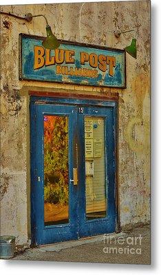 Blue Post Billiards Metal Print by Bob Sample
