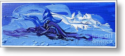 Blue Purple  Abstract Metal Print by Eric  Schiabor