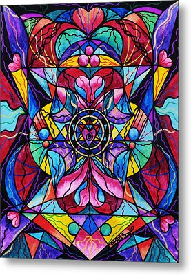 Blue Ray Healing Metal Print