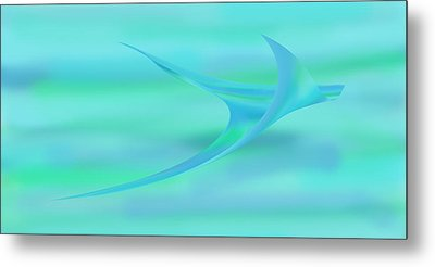 Blue Ray Metal Print by Stephanie Grant