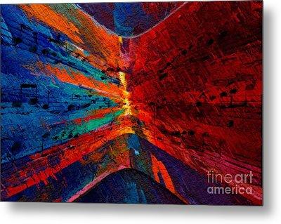 Metal Print featuring the digital art Blue Red Intermezzo by Lon Chaffin