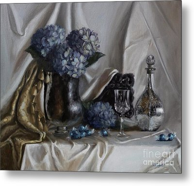 Blue Reflections Metal Print