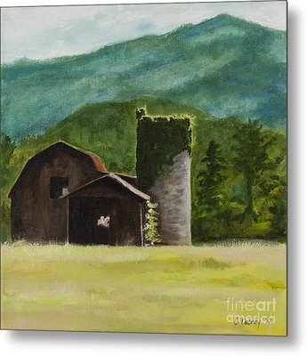 Blue Ridge Barn Metal Print by Carla Dabney