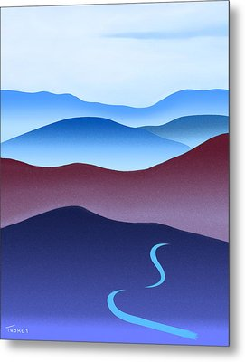 Blue Ridge Blue Road Metal Print
